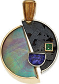 Estate Jewelry:Pendants and Lockets, Opal, Tanzanite, Garnet, Gold Pendant. ...