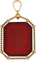 Estate Jewelry:Pendants and Lockets, Agate, Gold Pendant, Cartier. ...