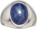 Estate Jewelry:Rings, Star Sapphire, White Gold Ring. ...