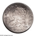 Bust Quarters: , 1821 25C MS67 NGC. B-4, R.2. A later die state of the variety with a crack from the border through E of UNITED into the fie...