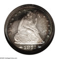 Proof Seated Quarters: , 1873 25C Arrows PR68 NGC. The fields are deeply reflective and theobverse possesses a warm russet and cobalt-blue edging a...