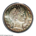 Barber Quarters: , 1892-S 25C MS66 PCGS. Type One Reverse. Typically bold withabundant frosty luster beneath swirling apricot-gold and mint-g...
