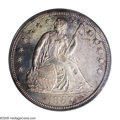 Proof Seated Dollars: , 1857 $1 PR63 PCGS. This is a highly desirable Proof issue withstrong details, especially on ...