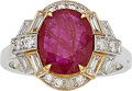 Estate Jewelry:Rings, Ruby, Diamond, White Gold Ring. ... (Total: 0 Items)