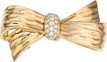 Estate Jewelry:Brooches - Pins, Diamond, Gold Brooch, Van Cleef & Arpels, French. ...