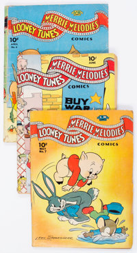 Looney Tunes and Merrie Melodies Comics Group of 10 (Dell, 1942-43) Condition: Average GD+.... (Total: 10 Comic Books)