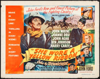 "She Wore a Yellow Ribbon (RKO, 1949). Half Sheet (22"" X 28"") Style A. Western"