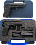 Handguns:Semiautomatic Pistol, Lot of Two Cased Semi-Automatic Pistols.... (Total: 2 Items)