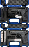 Handguns:Semiautomatic Pistol, Lot of Two Cased Smith & Wesson Semi-Automatic Pistols....(Total: 2 Items)
