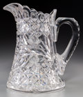Art Glass, A Libbey Brilliant-Cut Crystal Pitcher, American, 20th century.Stenciled Libbey to thumbrest. 8-1/2 inches high (21.6 c...