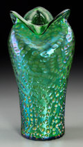 Art Glass:Loetz, A Loetz-Style Austrian Green Iridescent Glass Vase, circa 1900. 10-5/8 inches high (27.0 cm). ...