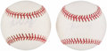 Autographs:Baseballs, Bob Wolff Single Signed Baseballs Lot of 2. ...