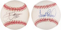 Autographs:Baseballs, Frank Robinson & Frank Thomas Single Signed Baseballs Lot of 2....