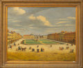 "Decorative Prints, European, A Scene of an Afternoon in the Piazza . Oil and Mixed Media onCanvas. Late 20th Century, signed ""Ericente"" lower right, in ..."