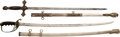 Edged Weapons:Swords, Lot of Two Swords: 1902 Officers' Saber and Masonic Sword.... (Total: 2 Items)