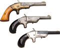Handguns:Derringer, Palm, Lot of Three Single Shot Deringers.... (Total: 3 Items)