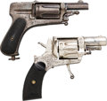 Handguns:Double Action Revolver, Lot of Two Belgian Double Action Revolvers.... (Total: 2 Items)