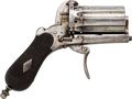 Handguns:Derringer, Palm, Belgian Pinfire Double Action Revolver.... (Total: 2 Items)