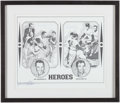 Autographs:Photos, Bill Mazeroski & Ralph Terry Multi-Signed Lithograph. ...