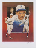 Autographs:Photos, Charlie Gehringer Signed Lithograph. ...