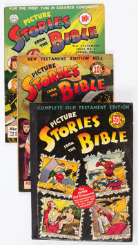 Picture Stories from the Bible Group of 5 (EC/DC, 1942-46) Condition: Average VG.... (Total: 5 Comic Books)