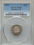 Bust Dimes: , 1829 10C Medium 10C XF40 PCGS. PCGS Population: (3/45). CDN: $300Whsle. Bid for problem-free NGC/PCGS X...