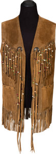 Music Memorabilia:Costumes, Jimi Hendrix Owned and Worn Long Suede Vest (Circa 1967-70)....