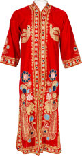 Music Memorabilia:Costumes, Jimi Hendrix Owned and Worn Red Velvet Kaftan (Circa 1967-70)....