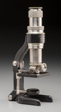 Other, A Cased Ernst Leitz Wetzlar Folding Microscope, circa 1927. 4-7/8 inches high (12.4 cm) (base, collapsed). ...