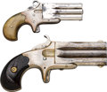 Handguns:Derringer, Palm, Lot of Two Frank Wesson Over & Under Deringers.... (Total: 2Items)