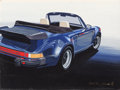 Fine Art - Painting, American:Contemporary   (1950 to present)  , Hodeki Yoshida (Japanese, 20th Century). Porsche 911, AutoinVogue magazine, February/March 1988. Gouache on board. 16-1...(Total: 2 Items)