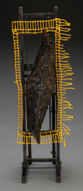 Fine Art - Sculpture, European:Contemporary (1950 to present), Unknown Artist (20th Century). Untitled. Steel, paint, wireand mixed media construction. 25-1/2 x 10 x 5-1/2 inches (64...