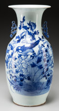 Asian:Chinese, A Chinese Blue and White Earthenware Vase. 16-5/8 inches high (42.2cm). ...