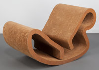 Frank Gehry (Canadian/American, b. 1929) Rocking Chaise Lounge, 1973, Easy Edges Inc. Cardboard, mas