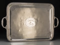 Silver Holloware, French, A Large Christofle Silver-Plated Tray, Paris, France, 20th century. Marks: CHRISTOFLE, 154, (effaced mark), 2010067...