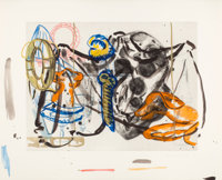 David Salle (American, b. 1952) Untitled, 1991 Gouache and pencil on etching proof 25 x 30 inches