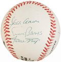 Autographs:Baseballs, 500 Home-Run Club Multi-Signed Baseball - Including Banks, Jackson,Mays, Schmidt, Mathews & Aaron....
