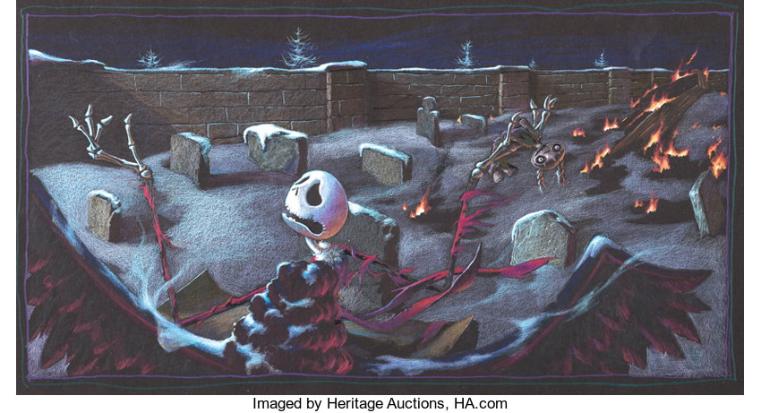 Tim Burton Nightmare Before Christmas Artwork.Tim Burton S Nightmare Before Christmas Jack Skellington