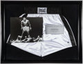 Boxing Collectibles:Autographs, Muhammad Ali Signed Boxing Trunks Display. ...