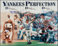 Autographs:Photos, Yankees Perfection Multi-Signed Oversized Photograph - With Berra& Girardi....