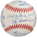 Autographs:Baseballs, New York Yankees Players Who Played During The 1949-1953 - Multi Signed Baseball - 18 Signatures, With Berra and Ford. ...