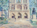 Fine Art - Painting, European:Contemporary   (1950 to present)  , Stokely Webster (American, 1912-2001). Facade - Notre-Dame,Paris, 1994. Oil on canvas. 22 x 28 inches (55.9 x 71.1 cm)...