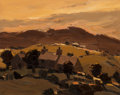 Paintings, Kyffin Williams (British, 1918-2006). Sunset Over a Patagonian Valley. Oil on canvas. 24 x 30 inches (61.0 x 76.2 cm). I...