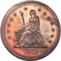 Patterns, 1870 25C Standard Silver Quarter Dollar, Judd-878, Pollock-975, R.7, PR62 Red and Brown PCGS....