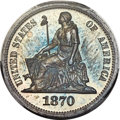 Patterns, 1870 10C Standard Silver Ten Cents, Judd-826, Pollock-916, High R.6, PR64 PCGS....