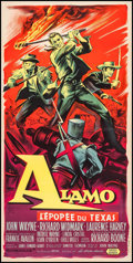 """Movie Posters:Western, The Alamo (United Artists, 1961). French Petite (15.5"""" X 31.5"""").Western.. ..."""