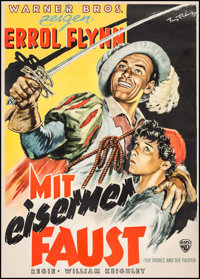 """The Prince and the Pauper (Warner Brothers, 1951). First Release German A1 (23"""" X 35""""). Swashbuckler"""