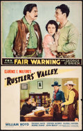 "Movie Posters:Western, Rustlers' Valley & Other Lot (Paramount, 1937). Lobby Cards (2) (11"" X 14""). Western.. ... (Total: 2 Items)"