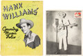 Music Memorabilia:Autographs and Signed Items, Hank Williams/Johnny Cash/June Carter and Others Signed Memorabilia(1950s)....