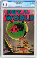 Silver Age (1956-1969):Science Fiction, Out of This World #11 (Charlton, 1959) CGC VF- 7.5 Cream tooff-white pages....